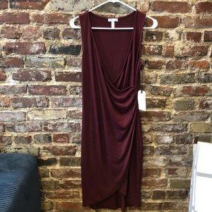 NWT Leith Midi Wrap Dress